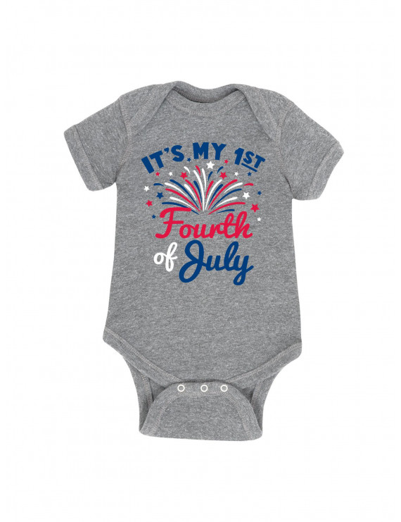 It's My First Fourth Of July  - Baby One Piece