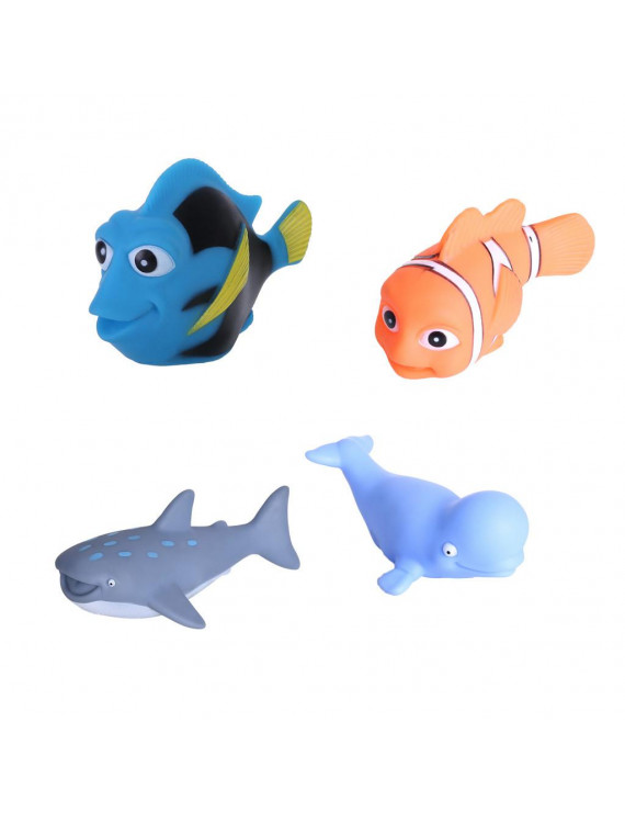 Nomeni 4 Piece Sinking Dive And Grab Set - Sinking Fish And Net Toy Playset For Kids