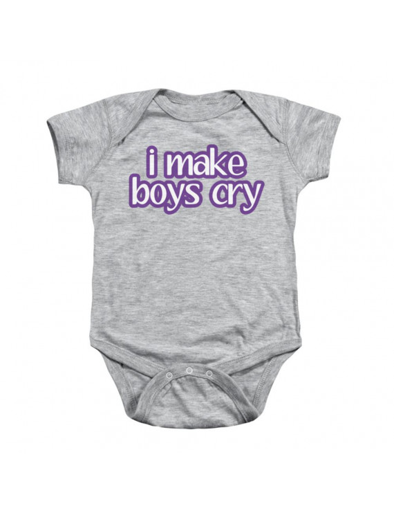 I Make Boys Cry Funny Saying Infant Snapsuit Baby Romper Snapsuit
