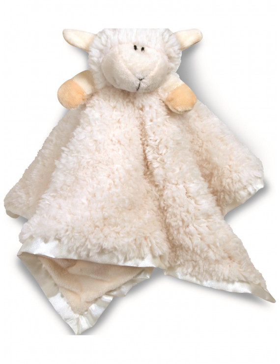 White Cuddle Buds Plush Lamb Blanket