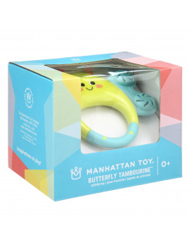 Manhattan Toy Butterfly Tambourine, Rattle Toy