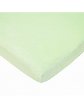 ***DISCONTINUED*** TL Care Heavenly Soft Chenille Bassinet Sheet, Celery
