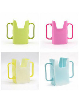 AkoaDa 1Pcs Infant Cup Holder Milk Sprinkler Container Toddler Adjustable Tool Drink Box Handles Holder Cup Milk