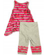 Baby Sara Infant Baby Girl Sleeveless Pant Sets - Asst Fabrics Styles Colors, 30673 fuchsia grey / 12Months