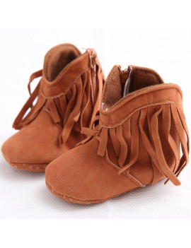 2020 Baby Girls Shoes Warm Tassels Newborns Boots Fashion Snow Boots Toddler Solid Fashion Fringe Boots Winter Warm Shoes NEW