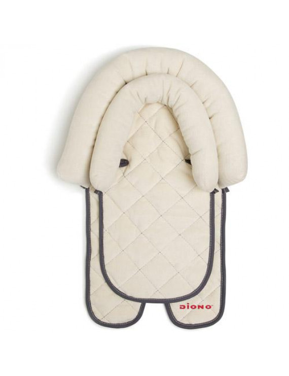 Diono 2-in-1 Infant Head Support Pillow for Car Seat or Stroller, Grows with Baby, Ivory