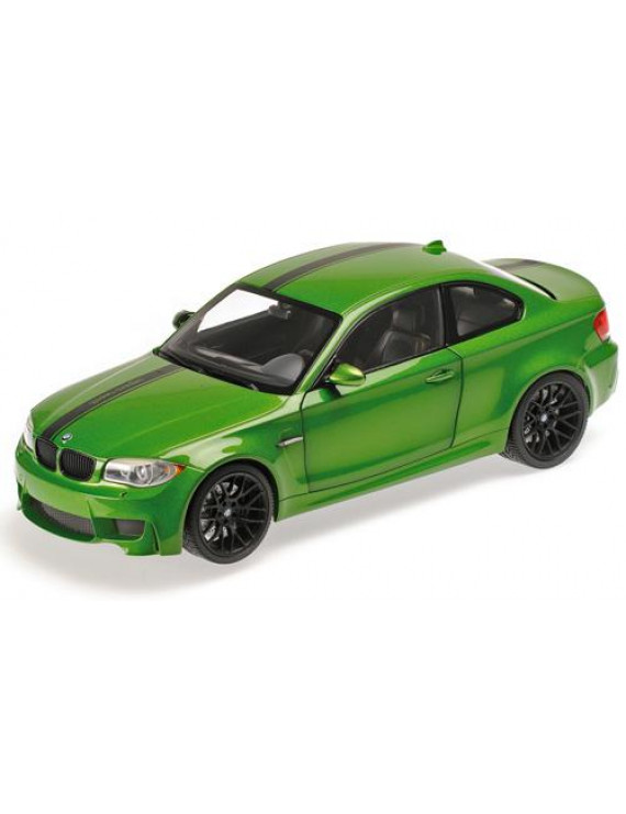 2011 BMW 1 M Coupe Java Green Limited Edition to 504pcs 1/18 Diecast Model Car by Minichamps