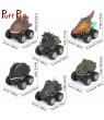 Children Toy Dinosaur Car,Plastic Spring Pull Back Car Model Vehicle Wind-up Toys Kids Educational Toy Children Gifts for Boys