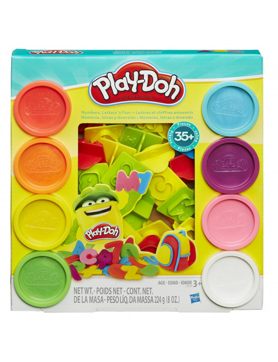 Play-Doh Numbers, Letters 'N Fun Set with 8 Cans of Dough & 35+ Tools