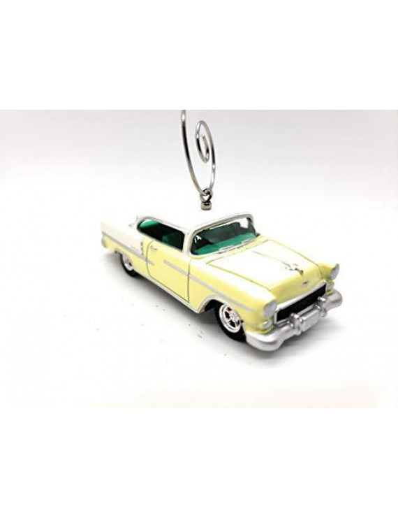 1955 Chevrolet Bel Air Car Custom Christmas Ornament 1:64 Diecast Yellow
