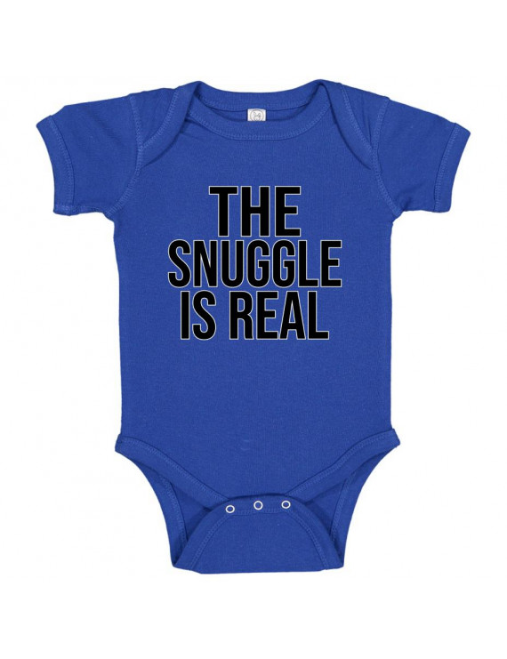 The Snuggle Is Real Funny Boys Girls Humor Baby Gift Infant Fine Jersey Creeper Bodysuit