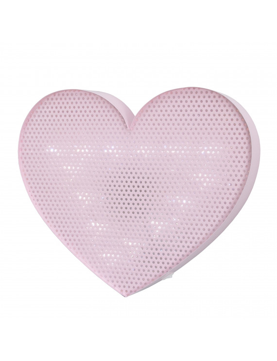 NoJo Lighted Wall Décor Pink Heart