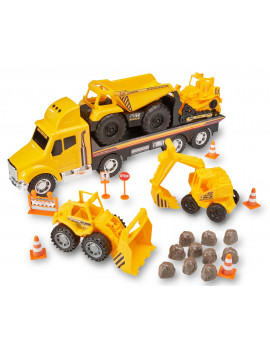 Kid Connection Deluxe Construction Play Set, 22 Pieces