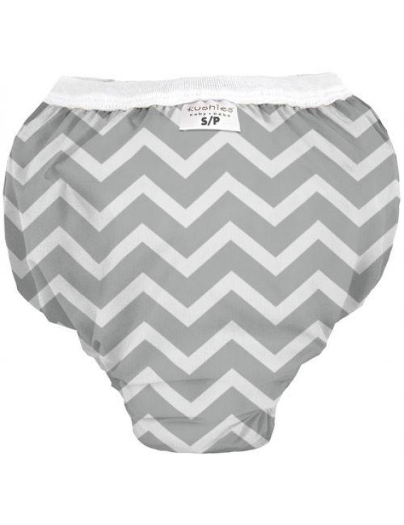 Kushies Baby Waterproof Training Pant (38-44 Pounds), Grey Chevron, X-Large