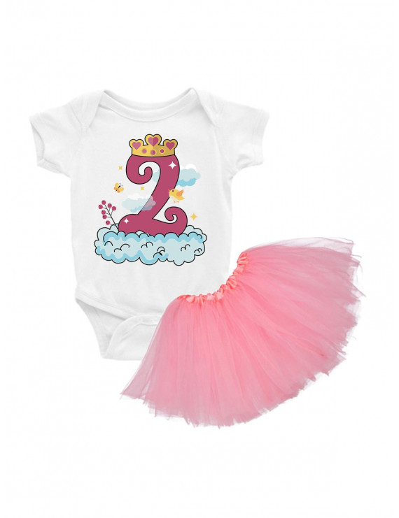 Awkward Styles Birthday Tutu Sets for Girls 2nd Birthday Outfit Baby Girl Birthday Clothes for 2 Years Old Girl Clothes 2nd Birthday Shirt 24M Tutu Princess Birthday Outfit
