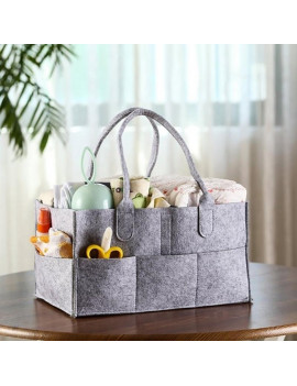 13 in Felt Baby Diaper Caddy Nursery Storage Wipes Bag Nappy Organizer Container