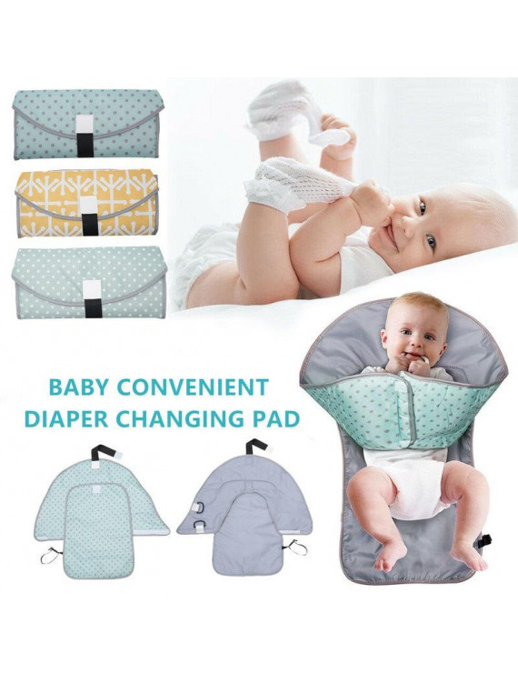Willstar Waterproof Baby Diaper Changing Mat 3 In 1 Waterproof Diaper Pad Portable Clean Hands Changing Pad
