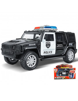 Bluelans 1/36 Simulation Police Car Vehicle Pull Back Truck Model Kids Toy Christmas Gift