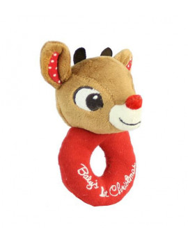"""Kids Preferred BABY'S FIRST CHRISTMAS LOOP RATTLE, Rudolph"""