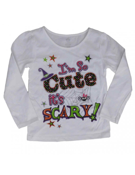 Infant & Toddler Girls Halloween Shirt White I'm So Cute Its Scary T-Shirt