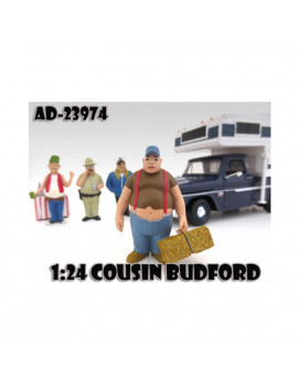 """Cousin Budford Trailer Park"" Figure For 1:24 Scale Diecast Model Cars by American Diorama"