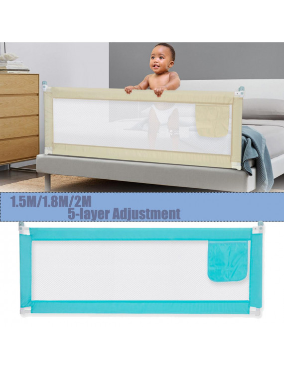 "Baby Guard Bed Rail Toddler Security Adjustable Kids Infant Bed Extra Long Bed Safety Rail Universal 71""/ 79"" / 59''"