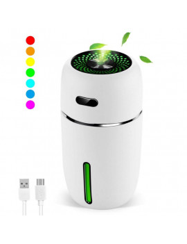 200ml Mini USB Car Humidifier Portable Humidifiers Air Purifier Quiet Operation Auto Shut-Off Adjustable Mist Modes for Travel Home Baby Office Car