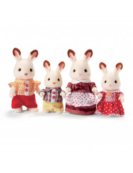 Calico Critters Hopscotch Rabbit Family, 4 Poseable Figures