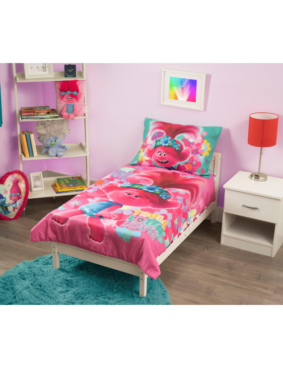 Trolls World Tour Lotta Love 4-Piece Toddler Bedding Set