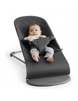 BABYBJÖRN  Bouncer Bliss, Quilted Cotton, Anthracite (Slate Grey)