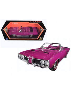 1 by 18 1970 Dodge Coronet Retractable Diecast Model Car, Purple