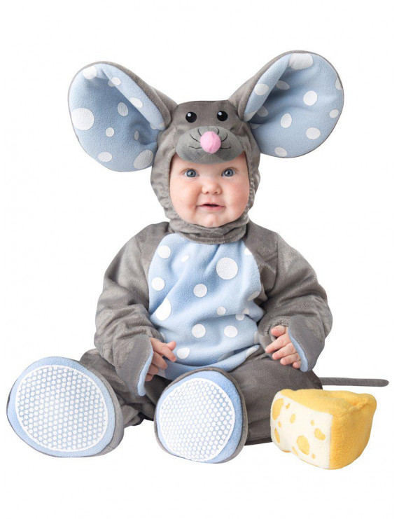 Fun World Baby Lil' Mouse Costume Grey Light Blue XS