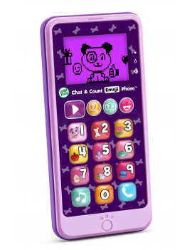 LeapFrog Chat and Count Emoji Phone, Creative Role-Playing Toy, Violet