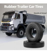 Ametoys 2pcs Trailer Car Rubber Tires for 1:14 Tamiya Tractor Truck RC Climbing Trailer