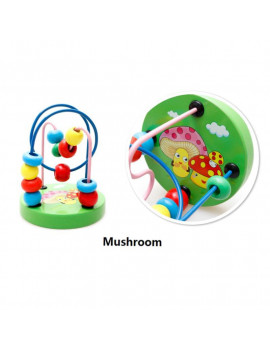 Bead Maze Toy for Toddlers Wooden Colorful Roller Coaster Educational Circle Toys