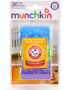 3 Pack - Arm & Hammer by Munchkin Bag Dispenser Refill, 36 ea