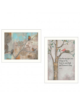"""Wings to Fly"" 2-Piece Vignette by Kenda Runnels, White Frame"