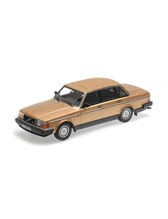 1986 Volvo 240 GL Gold Limited Edition to 504 pieces Worldwide 1/18 Diecast Model Car by Minichamps
