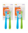 Munchkin Gentle Silicone Spoon, 4 Pack, Blue/Green