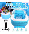 iLH Children's Family Inflation Pool Baby Ocean Ball Sand Pool Bath Toys Square 71.25x55.51x18.11in
