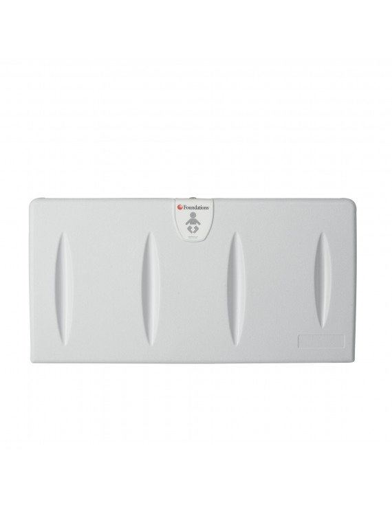 Foundations Horizontal Baby Changing Station, Surface Mount, Includes Backer Plate