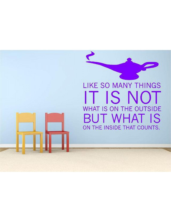 """Aladdin Movie Quote - Kids Bedroom Decor 