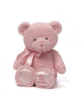 Baby GUND My First Teddy Bear Stuffed Animal Plush Pink 10""
