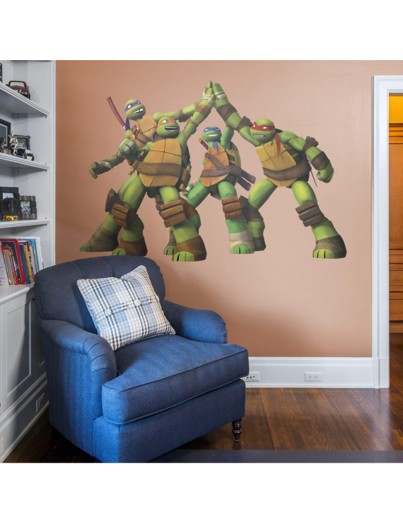 Fathead Teenage Mutant Ninja Turtles: High Five - Huge Officially Licensed Nickelodeon Removable Wall Decal