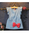 Kids Baby Girl Dress Minnie Mo e Bag Demin Gown Party Dress Sleeveless Clothes