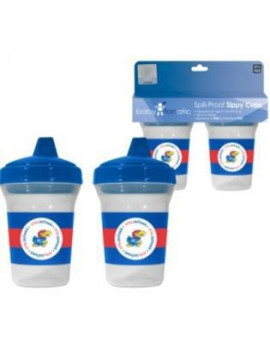 Baby Fanatic 2-Pack Sippy Cups NCAA University of Kansas