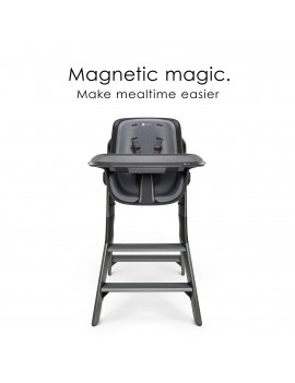 4moms High Chair with Magnetic Tray, Black/Grey