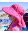 Jan & Jul Girls' Sun-Hat with UV Protection, Size Adjustable, Quick-Dry (XL: 5-12 years, Hot Pink)
