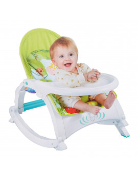 KARMAS PRODUCT Newborn to Toddler Portable Rocker with Dinner Table Boy