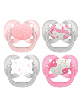 Dr. Brown's Advantage Stage 1 Pacifier - 4PK Pink